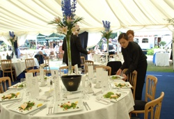 Private table catering supplied by Henley Regatta Hospitality for the Henley Royal Regatta